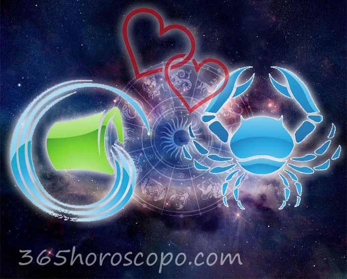 Cáncer Acuario horoscopo Compatibilidad