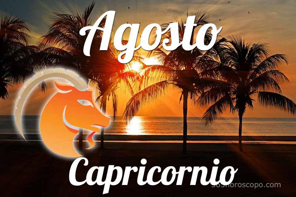 Capricornio horóscopo Agosto