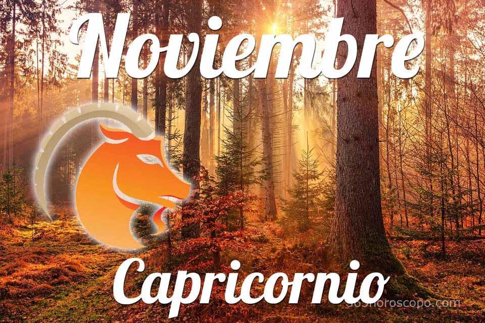 Capricornio horóscopo Noviembre