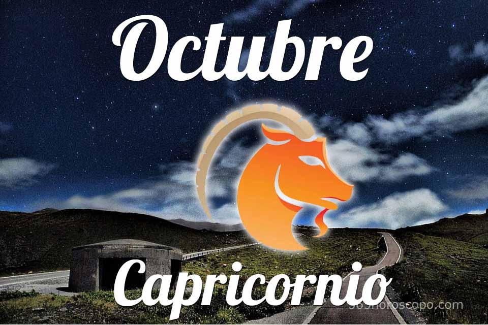 Capricornio horóscopo Octubre