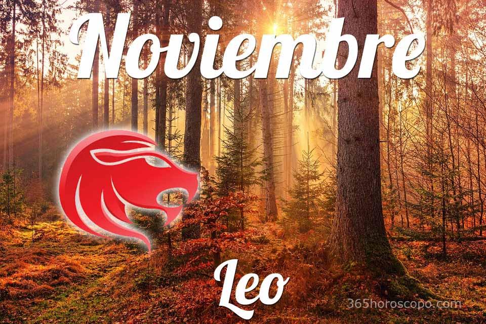 Leo horóscopo Noviembre