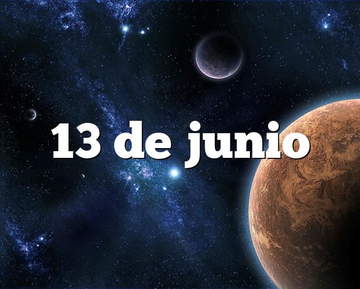 13 de junio