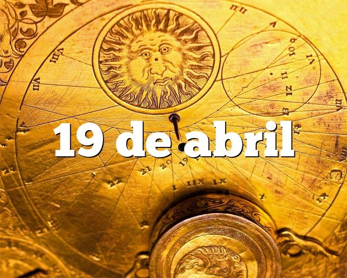 19 de abril