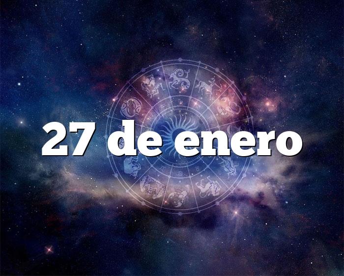 27 de enero
