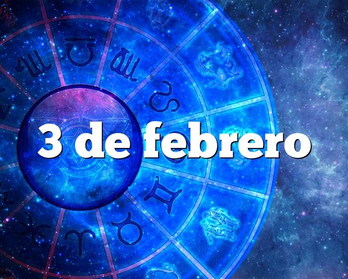 3 de febrero