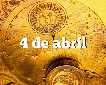 4 de abril