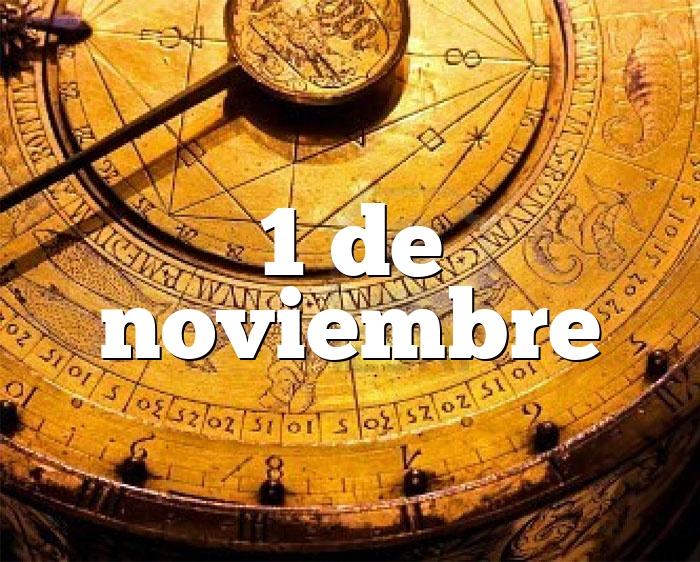 1 de noviembre