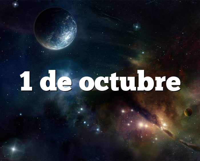 1 de octubre
