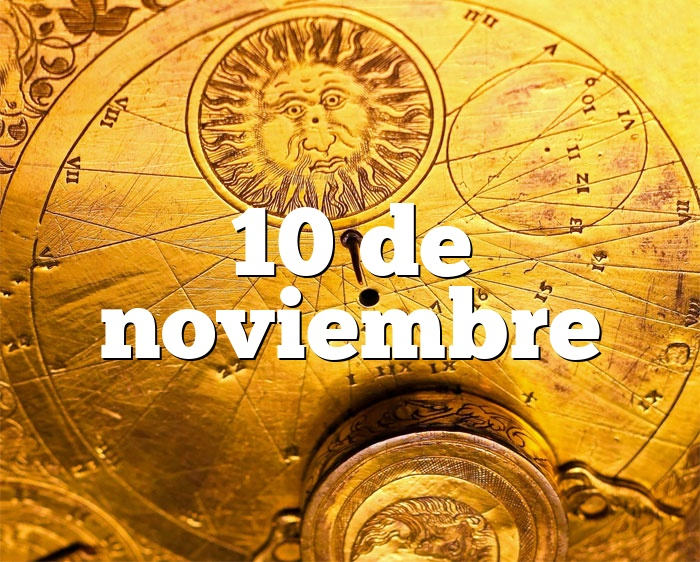 10 de noviembre