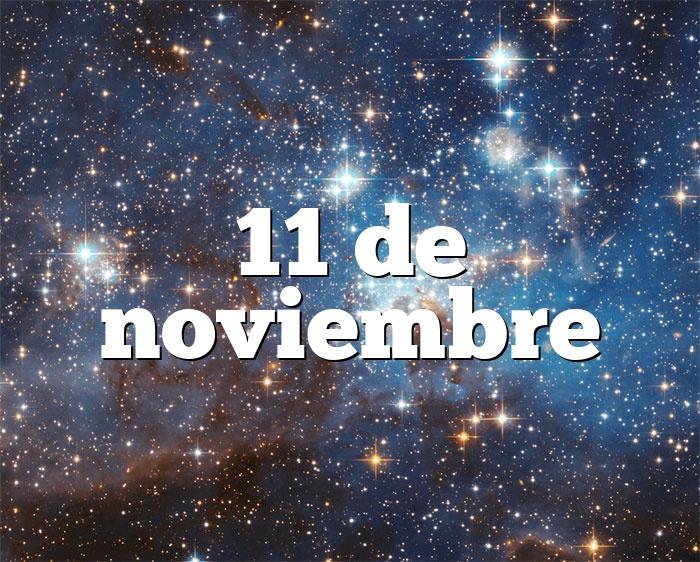 11 de noviembre