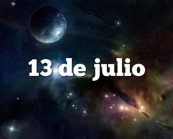 13 de julio