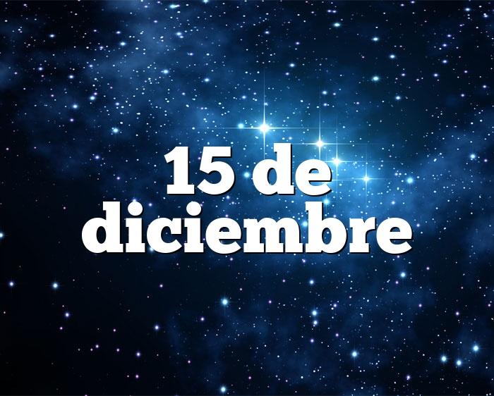 15 de diciembre