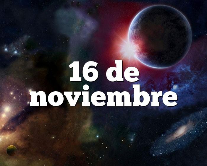 16 de noviembre