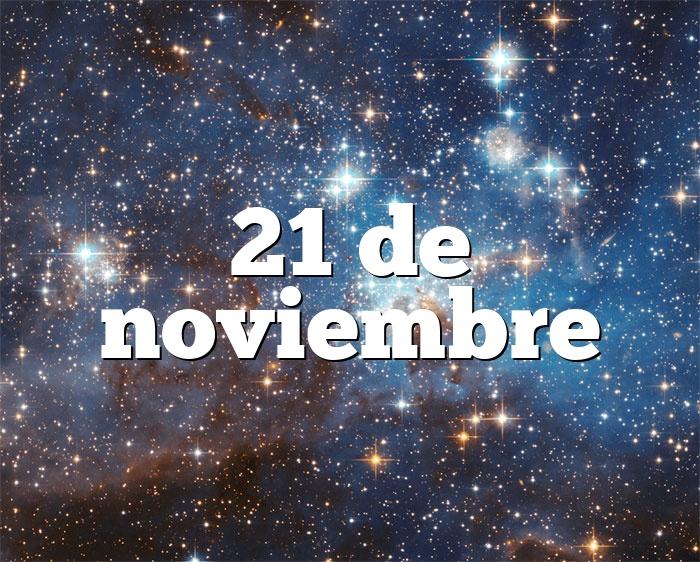 21 de noviembre