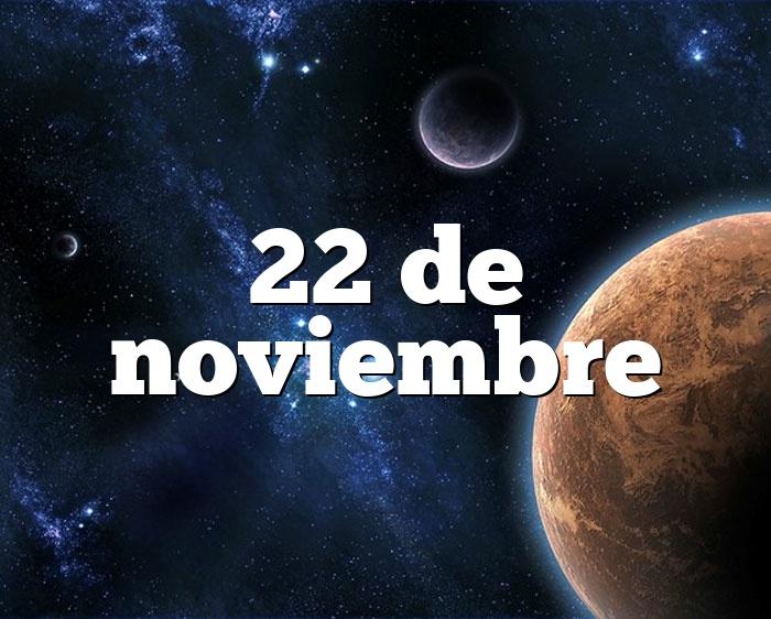 22 de noviembre