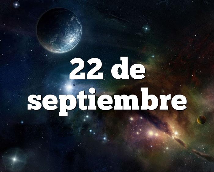 22 de septiembre