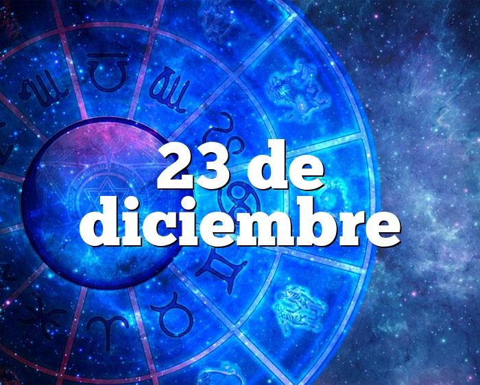 23 de diciembre