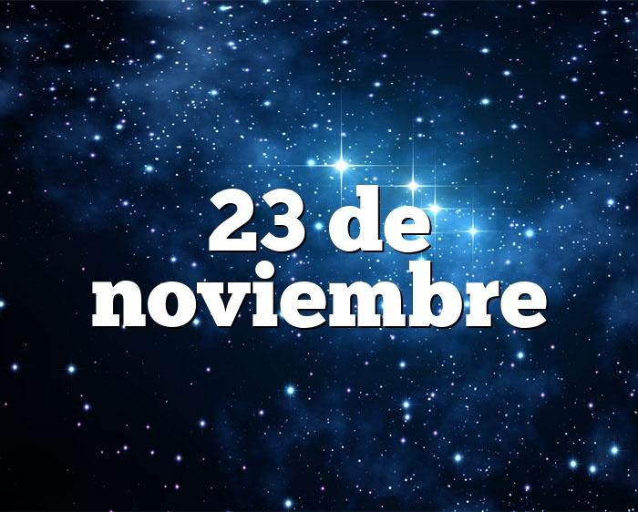 23 de noviembre