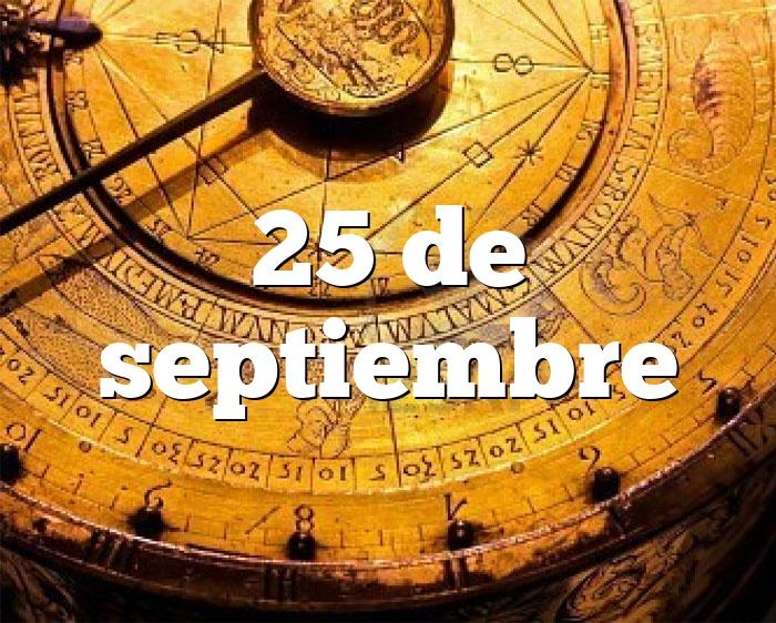 25 de septiembre