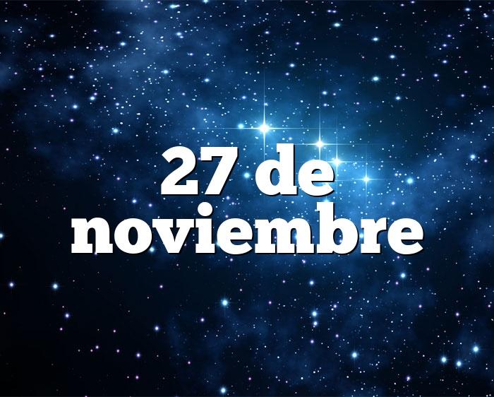 27 de noviembre