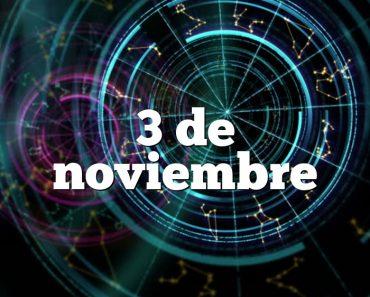 3 de noviembre