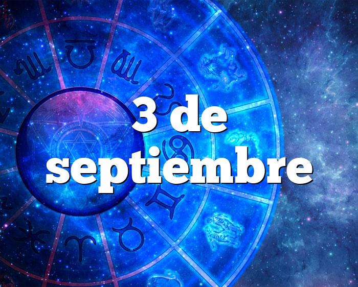 3 de septiembre