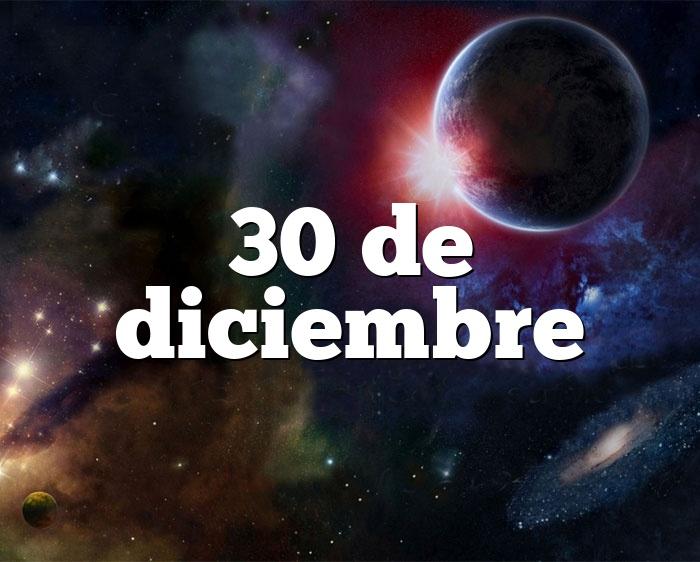 30 de diciembre