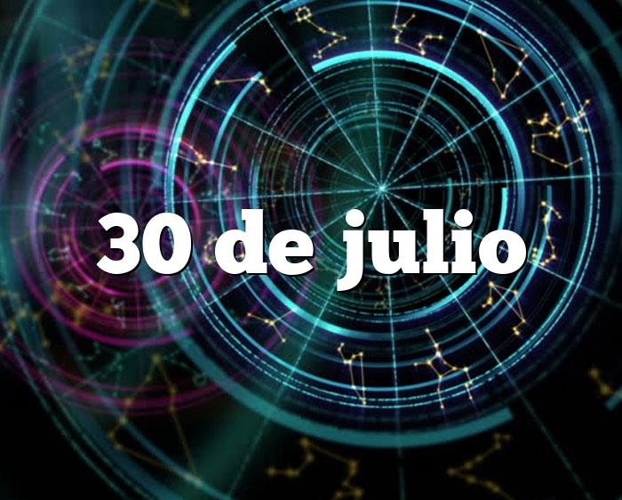 30 de julio