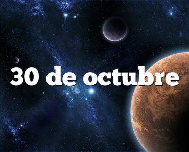 30 de octubre
