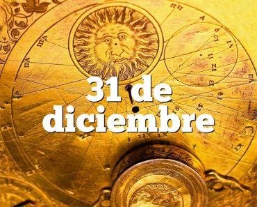 31 de diciembre