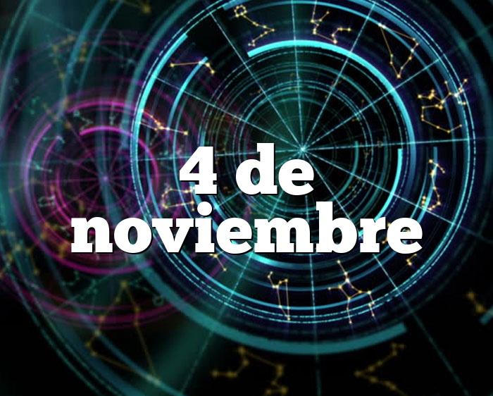 4 de noviembre