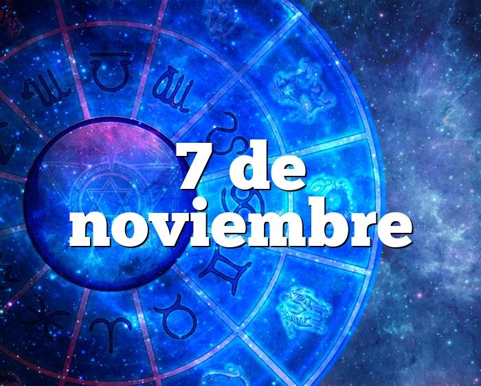 7 de noviembre