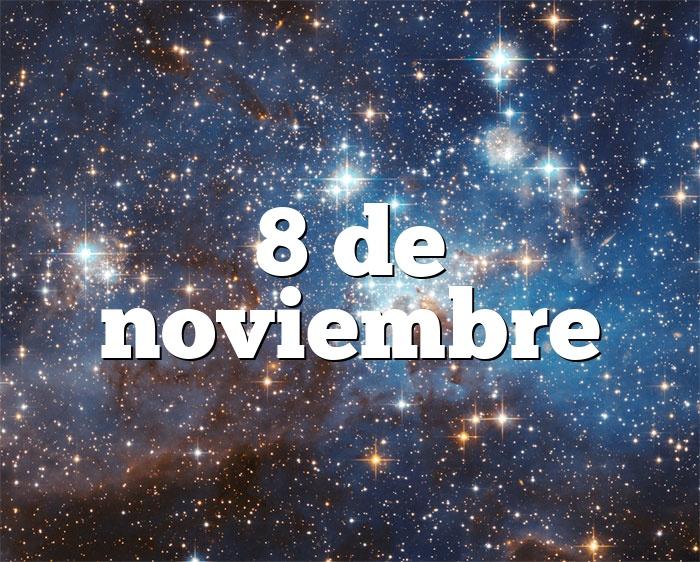 8 de noviembre