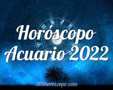 Horóscopo Acuario 2022