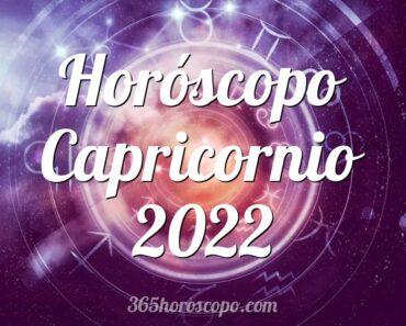 Horóscopo Capricornio 2022